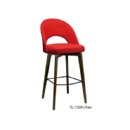 Hot sale Customized personalized wooden backrest tall high bar chair