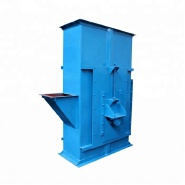 Self-cleaning transfer raw materials bucket elevator for rubber processing