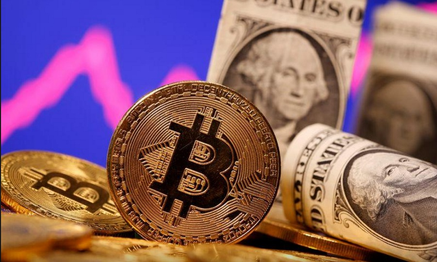 Bitcoin surges higher, narrows gap to record high