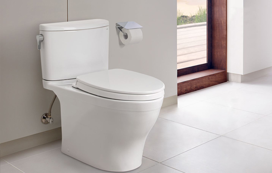 Cost-effective two piece toilet with satisfactory performance