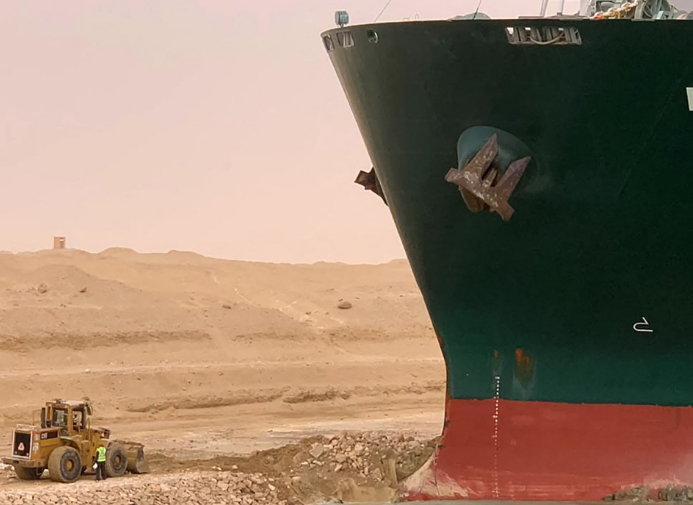 Suez Canal blockage puts at risk protective equipment deliveries to Europe