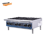 Commercial Natural Gas 6 Stove Cooking Range