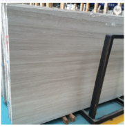 natural marble tile wooden Cheapest China Manufacture White wooden Factory marble Price Polished Surface slab marble