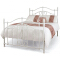 Hengya White iron double bed with metal frame