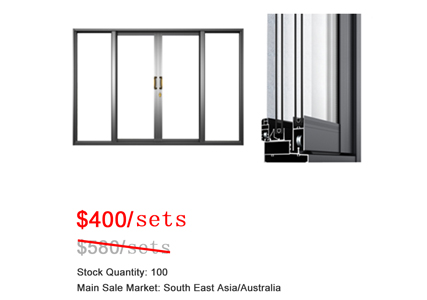Come from a heavy rainfall area, you better choose Galuminium extrusion aluminum window/door!