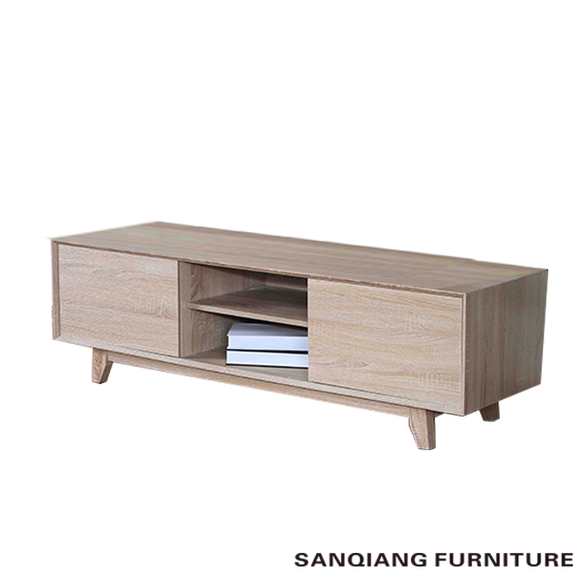 white high gloss finish and from oak melamine finish TV stand