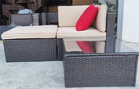 Factory direct low price for reliable outdoor furniture set 3 pieces