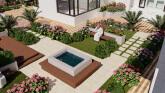 front yard landscape design of luxury villa
